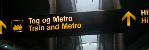 Train and Metro sign